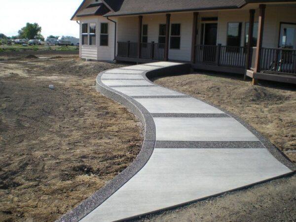 Тротуарные дорожки из бетона