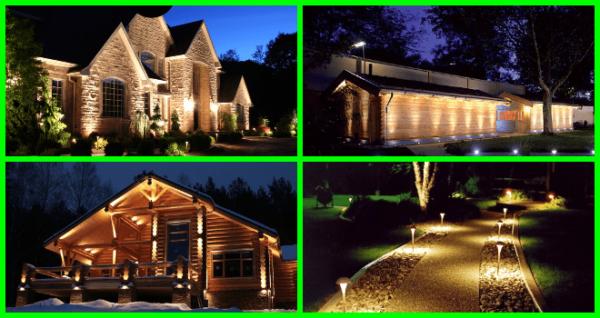Архитектурное освещение дома