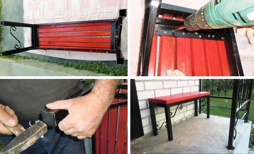 Инструмент для создания скамейки из профильной трубы