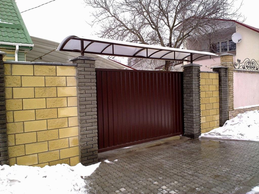 Козырьки над калиткой и воротами