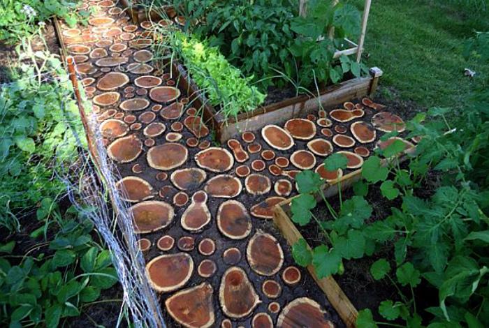 Садовая дорожка своими руками из спилов